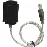 IDE SATA to USB + ATA Serial Adapter Cables + AC Power Adapter - Black