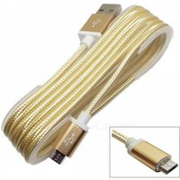 Aluminum Joint USB 2.0 to Micro USB Cable for Samsung - Golden (1.3m)