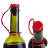 Silicone Bottle Stopper - Bright Red