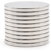 Super Strong Nd-Fe-B Magnetic D24 * 2mm Magnets - Silver (10pcs)