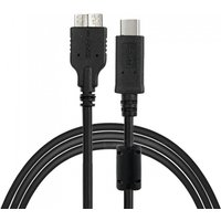 Cwxuan USB 3.1 Type-C Male to Micro-B USB 3.0 Male Data Cable - Black