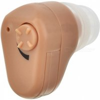 BSTUO Mini In-Ear Hearing Aid Adjustable Sound Voice Amplifier - Brown