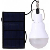 Portable 130LM Solar Powered Outdoor Camping Light Lantern - White