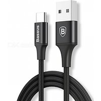 Baseus Rapid Series Type-C Charging Cable with Indicator Light for Samsung, Xiaomi and More Mobile Phones Black