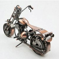 Large Iron Harley Motorcycle Model Crafts for Home Living Room Decoration, Creative Gift