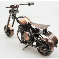 Creative Iron Motorcycle Model Small Gift Crafts for European Style Living Room Decoration