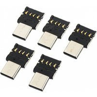 CY UC-053 Type C To USB OTG Connector Adapter for USB Flash Drive S8 Note8 Android Phone (5 PCS)