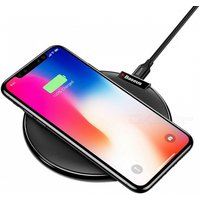 Baseus Qi Wireless Charging Pad Fast Charge Mobile Phone Desktop Wireless Charging Dock Station for IPHONE 8 X Samsung Note 8 Black