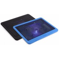 Portable Super Quiet Cooler Cooling Fan Pad Base, USB Stand Big Fan for 14quot Laptop Notebook Computer Random Color