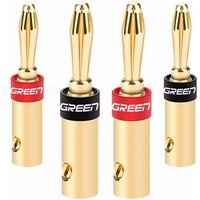 Ugreen 24K Gold-Plated Banana Plug Connector Corrosion-Resistant Banana Connector for Vedio Speaker Amplifier 2 Pairs 2 Pair/golden