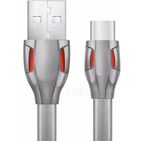 REMAX Laser USB3.1 Type-C USB-C TPE Data Cable, Flexible 2.1A Charging / Data Transfer Cable for Xiaomi, Huawei, Etc 1m/qiang