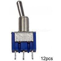 RXDZ Three Positions 3-Pin SPDT ON-OFF-ON Mini Toggle Switch 6A AC125V