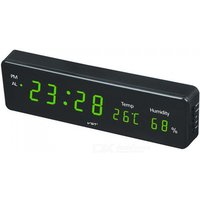 VST Big Number Large LCD Digital Wall Clock Table Watch, Desk Alarm Clock with Temperature Snooze Calendar