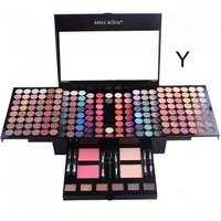Professional 180 Colors Matte Nude Shimmer Eyeshadow Palette Makeup Set With Brush Mirror Shrink Cosmetic Case Makeup Kit