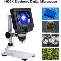ESAMACT 600X 3.6MP Digital Microscope, 4.3andquot; LCD Electronic HD Video USB Endoscope Magnifier Camera