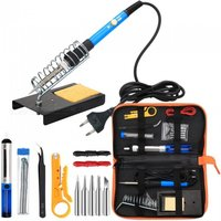 ESAMACT Electronic 60W Soldering Iron Tool Kit with 5pcs Soldering Tips, Desoldering Pump, Soldering Iron Stand