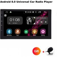 """Funrover 2 Double Din Universal Car Radio DVD Player, Stereo HD 7"""" Quad-Core Android 8.0 Auto Radio w/ GPS Navigation"""