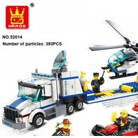 Wange Building Kits Compatible With Lego City Police Helicopter Truck 993 Blocks Educational Toys Hobbies For Children Multicolor