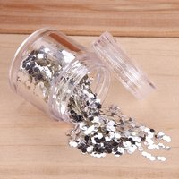 DIY Fine Blink Glitter Sequins Dust Silver Gray Color Decoration Powder Paillette Hexagonal Nail Art UV Gel Acrylic Silver