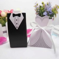 100pcs Wedding Candy Box Laser Cut Mini Kraft Gift Box Cardboard Favor Packaging Decoration Gift for
