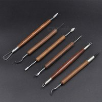 6 Pcs/Set Clay Carving Tools Pottery Ceramics Tools Polymer Clay Modeling Tools Wax Carving Sculpt Tool  6 PCS/Set