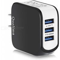 Quelima USB 3.0 3-Port Mobile Phone Charger