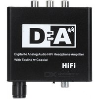 Digital to Analog Audio HiFi Headphone Amplifier with Toslink Coaxial
