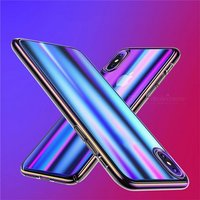 USAMS Mobile Phone Case Color Plating IMD Marble Texture Protective Cell Phone Cases For IPHONE X PC