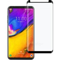 Dayspirit Full Screen Curved Tempered Glass Film Screen Protector for LG V35 ThinQ - Black