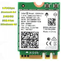 1.73Gbps Wireless Wifi Network Card For Intel 9260 AC 2.4G/5Ghz NGFF 802.11ac Wi-fi Bluetooth 5.0 For Laptop Windows 10 White