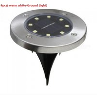 ZHAOYAO 8 LEDs Inserted Solar Power Lights Under Ground Lamp Outdoor Path Garden Light - Warm White/White