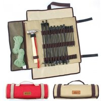 Extra Long Nail Hammer Tent Ropes Outdoor Camping Handbag Ground Bags Large Size ER52 Red