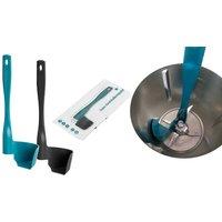 1x oder 2x Drehkellenspatel für Küchenmaschine in Schwarz oder Blau