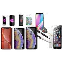 1x oder 2x Display-Schutzglas für Apple iPhone4/4S, 5/5S/5C/SE, 6/6S/7/8, 6P/6SP/7P/8P, X, XR, XS, XS Max