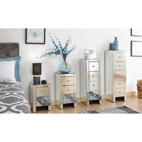 One or Two Sophia Mirrored Bedside Chests