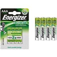 1x oder 2x Energizer Wiederaufladbare Batterien AAA 500 FSB4 AAA 4-er Pack