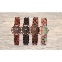1x oder 2x Excellanc Unisex Holz-Armbanduhr in der Farbe nach Wahl