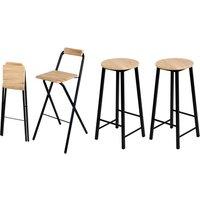 Urban Living Friends 1x, 2x oder 4x Barhocker mit Rückenlehne oder 2x Barhocker mit rundem Sitz in S