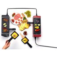 Weasy 2-in-1 Raclette und Grill für 2 Personen in Schwarz und Rot