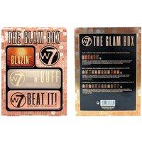 1x oder 2x W7 The Glam Box Lidschatten-Palette mit 3 Lidschatten-Sets