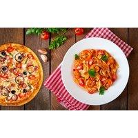 3-Gänge-Menü mit Pizza oder Pasta für 2 oder 4 Personen in der Kulinari Lounge
