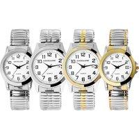 1x oder 2x Excellanc Edelstahl-Armbanduhr in Silber/Weiß oder Silber/Gold im Modell nach Wahl für Herren