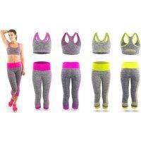 Zodiac Yoga-Trainingsanzug für Damen in Rosa oder Grün in der Größe nach Wahl