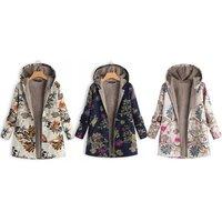 Groupon DE Damen-Jacke mit floralem Muster in Orange, Navy oder Pink
