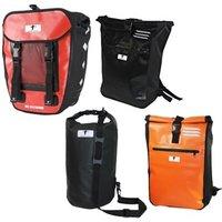 """1x oder 2x Messenger Bag, Packsack """"Dry Bag"""", Pro Fahrradtasche, Kurier-Rucksack oder 3er Set Kurier-Rucksäcke"""