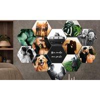 Hexagon-Foto in verschiedenen Größen von Lieblingsfoto