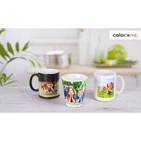 """Fototasse Classic mit Innenfarbe, Latte oder Zaubertasse mit """"magischem"""" Effekt von Colorland (bis 75% sparen*)"""