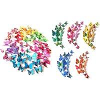 12er- oder 60er-Set Wandaufkleber 3D-Schmetterlinge in der Farbe nach Wahl