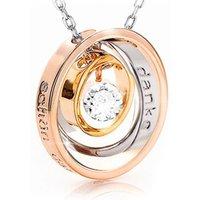 """Halskette """"DANKE für alles - Schön, dass es Dich gibt"""" mit einem Swarovski® Kristall"""