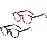 1x, 2x oder 4x Anti-Blaulicht-Brille in Schwarz und/oder mit Leopard-Muster